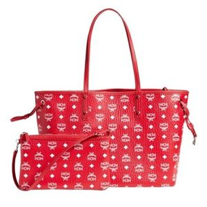 Reversible Visetos Pouch Red and White Tote